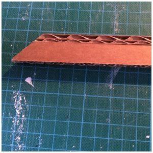Angle de la bande de dentelle de carton