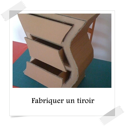 fabriquer un tiroir lpb carton. Black Bedroom Furniture Sets. Home Design Ideas