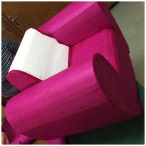 Habillage fauteuil fushia