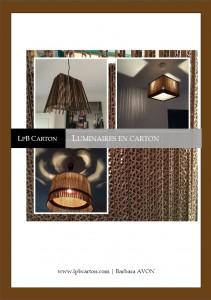 Page de garde Luminaires en carton par LpB Carton