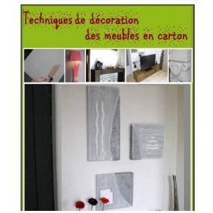 Techniques de décoration des meubles en carton_1er page