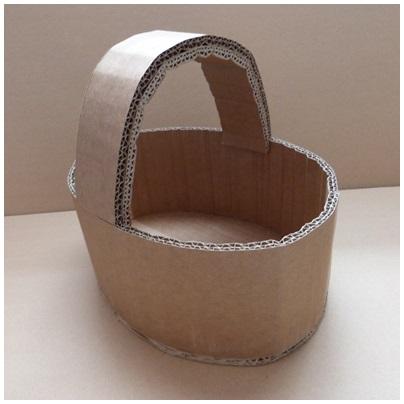 tutoriel pour fabriquer un panier de p ques lpb carton. Black Bedroom Furniture Sets. Home Design Ideas