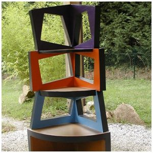 Etagere d'angle menthe recto B
