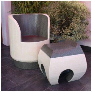 Ensemble fauteuil pouf