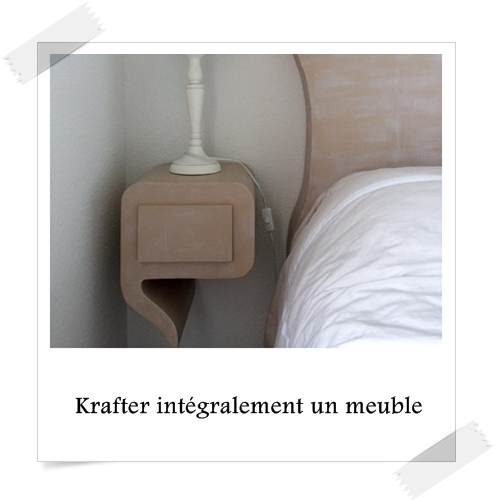 krafter int gralement un meuble en carton lpb carton. Black Bedroom Furniture Sets. Home Design Ideas