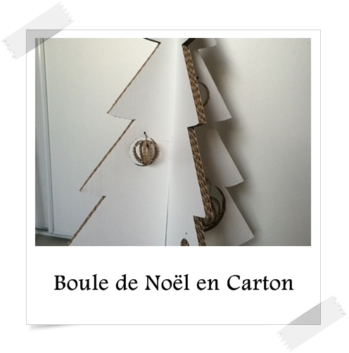 boule de no l en carton lpb carton. Black Bedroom Furniture Sets. Home Design Ideas