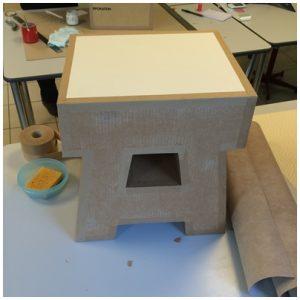Protection de l'assise avec de la cartonnette