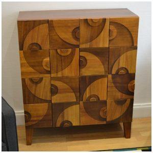 meuble en carton faux bois blog