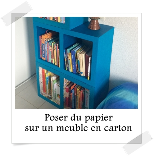 Poser du papier sur un meuble en carton lpb carton - Coller du papier sur un meuble ...