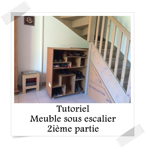 tutoriel meuble sous escalier 2i me partie lpb carton. Black Bedroom Furniture Sets. Home Design Ideas
