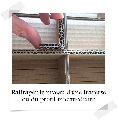 rattraper le niveau d 39 une traverse ou du profil interm diaire lpb carton. Black Bedroom Furniture Sets. Home Design Ideas