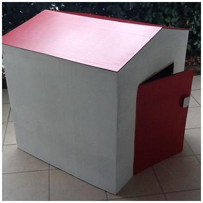 Cabane en carton cabane en chambre duenfant cabane en - Cabane en carton a colorier ...