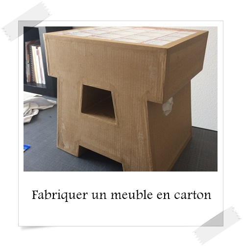 fabriquer des meubles en carton id es inspir es pour la maison. Black Bedroom Furniture Sets. Home Design Ideas
