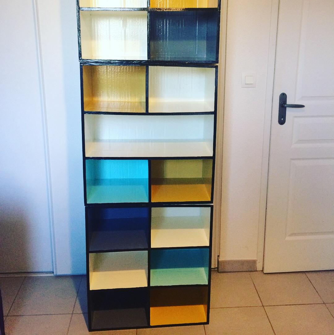 diy j 39 ai fabriqu mon meuble chaussures lpb carton. Black Bedroom Furniture Sets. Home Design Ideas