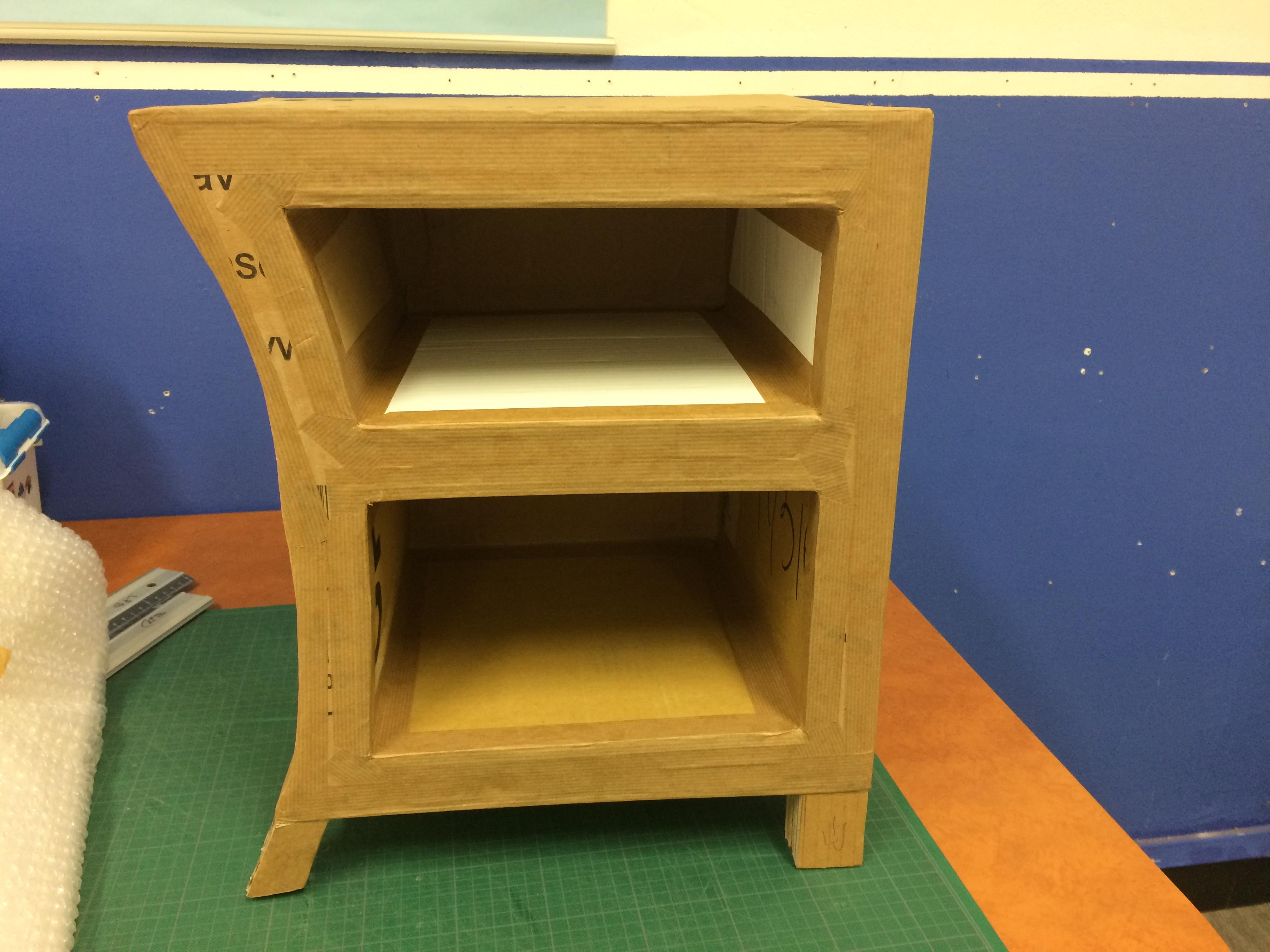 table de chevet daniele lpb carton. Black Bedroom Furniture Sets. Home Design Ideas